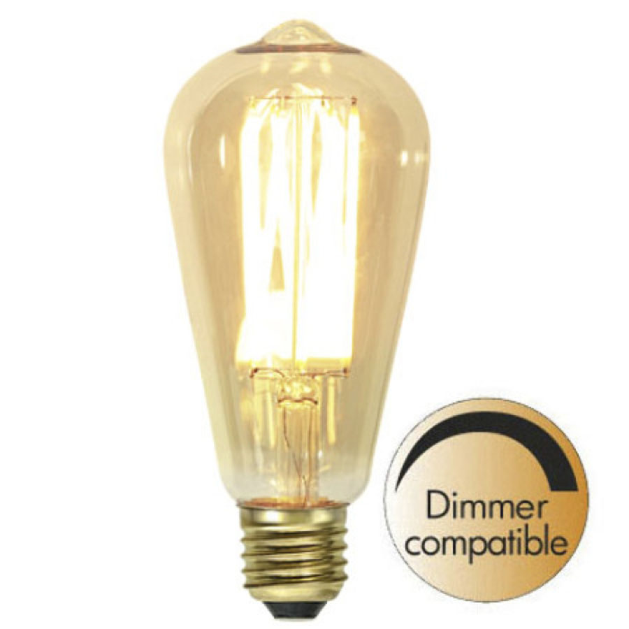 Decoration LED Vintage Gold filament E27 1800K 240lm Dimmerkomp.