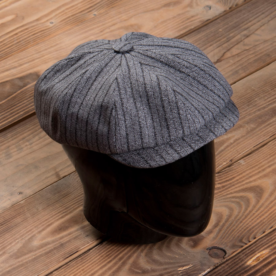 1928 Newsboy Cap Swedish Stripes (keps)