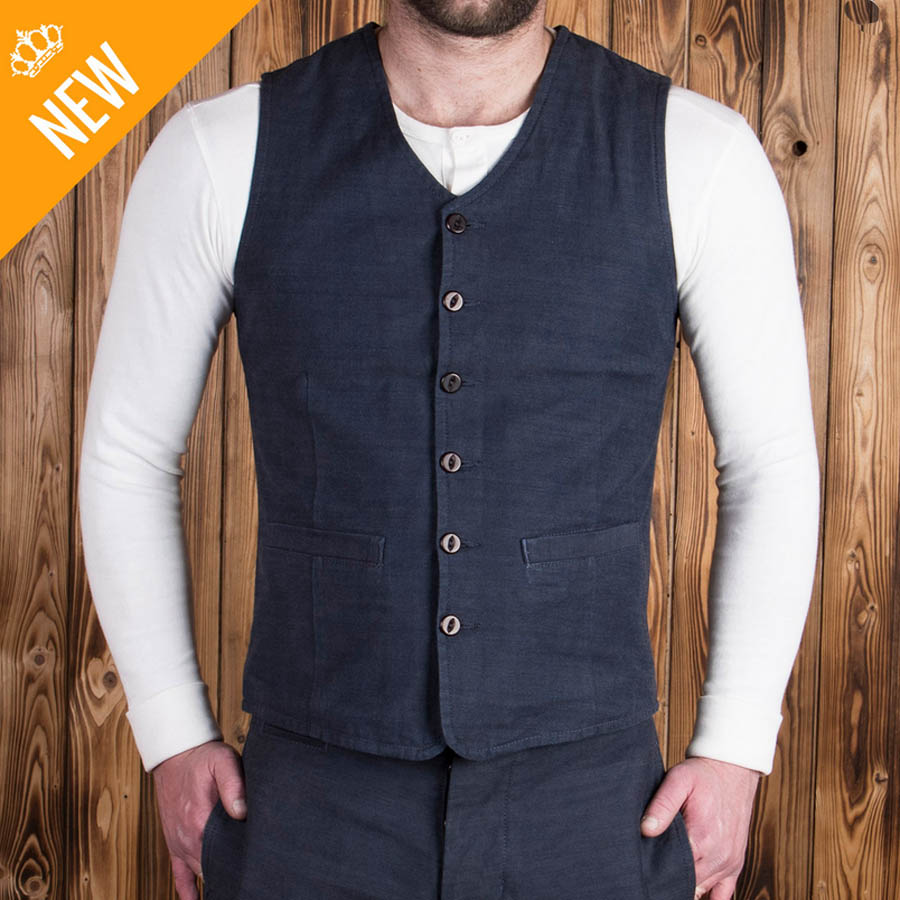 1905 Hauler Vest Steel Blue Denim (väst)