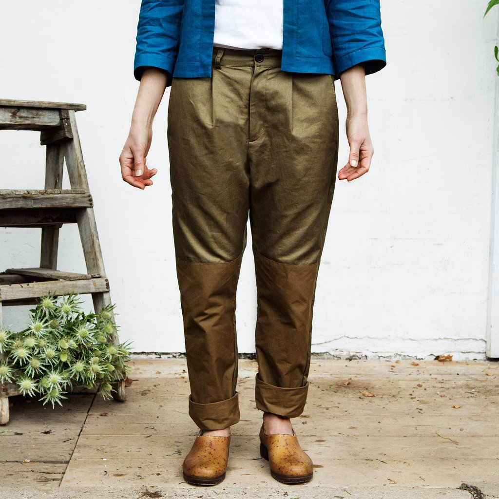 Daisy, Tailored work trouser, Golden green (arbetsbyxa)