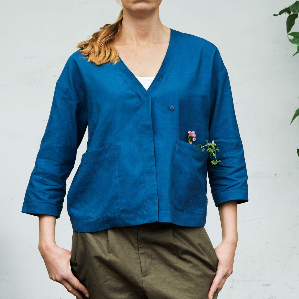 Honeysuckle, Tunic, Blue indigo