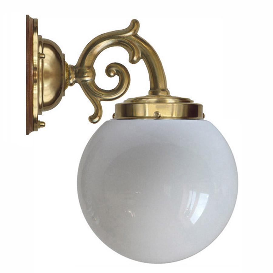 Topelius 80 mässing med opalvit glob (badrumslampa) [0446m08 ...