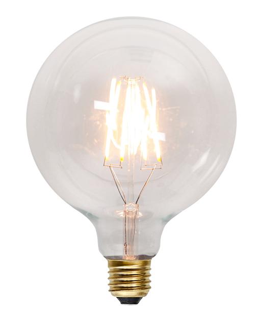 Glödlampa liten sockel stor glob