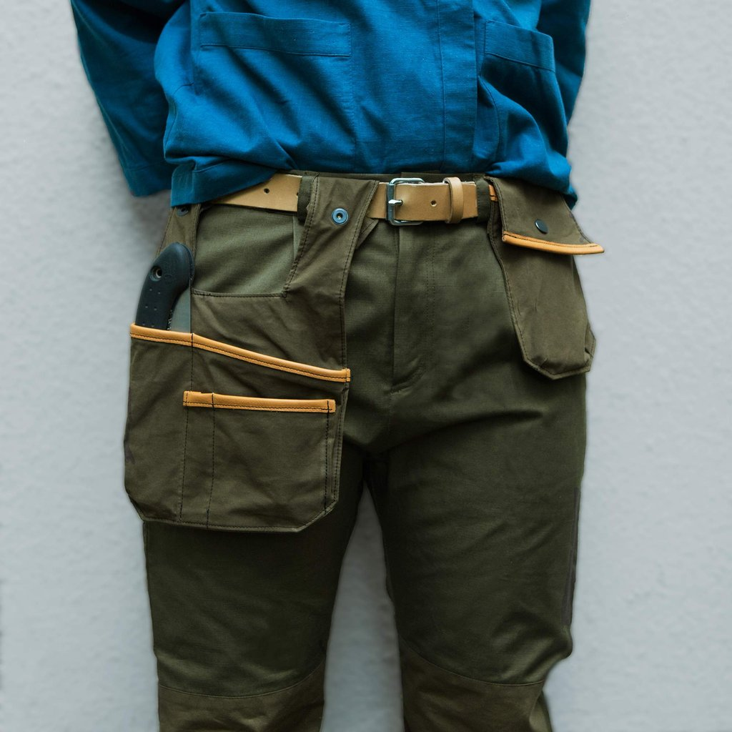 Sweet pea Tool Pockets and belt, Golden green